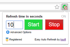 Easy Auto Refresh - Chrome Extension