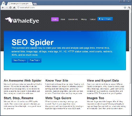 WhaleEye SEO Spider Software