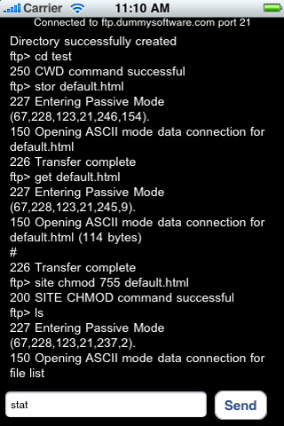 FTP Command Line for the iPhone, iTouch, iPad