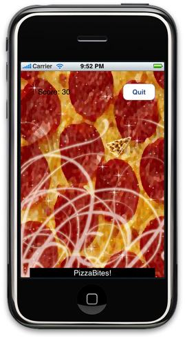 Pizza Bites iPhone Game