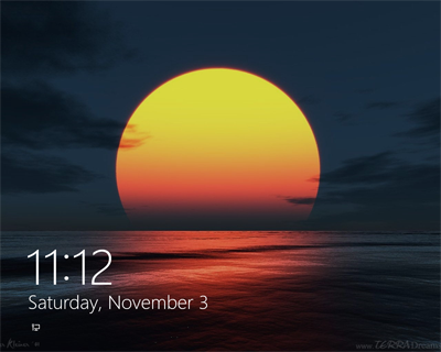 Windows 8 lock screen background, LogonEight