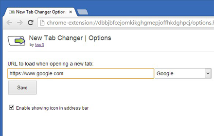 New Tab Changer - Redirect new tabs to a custom url, Chrome Extension